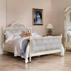 French style Juliet fully upholstered luxury bed
