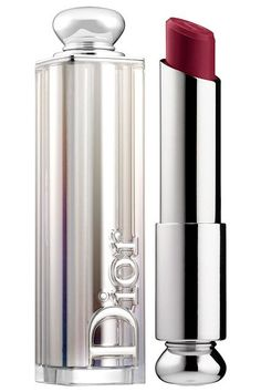 """8 Celeb-Approved Wine Lipsticks, For Every Skin Tone #refinery29  http://www.refinery29.com/best-wine-lipstick-colors#slide-2  Moss wears Dior's lipstick in Gotha under Make Up For Ever's liner in Matte Dark Plum. """"I used the lipliner all over the perimeter of her mouth first to create depth, or contour,"""" Martin tells us. Then, he layered the lipstick on top.Dior Dior Addict Lipstick in Gotha, $35, available at <a href=""""http://www.sephora.com/dior-addict-lipstick-P400597?skuId=1729110&om..."""
