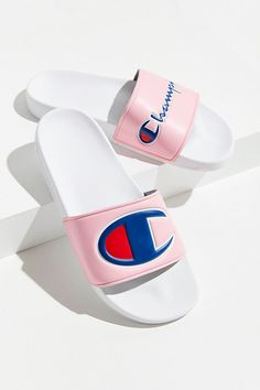 32 Summer Sandals Heels For Teens - Shoes Styles & Design Cute Sandals, Sport Sandals, Slide Sandals, Summer Sandals, Summer Heels, Champion Clothing, Champion Shoes, Pretty Shoes, Cute Shoes
