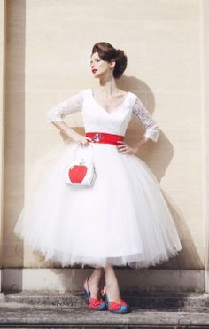 Baroness Pearl wedding dress, £345 from kittyanddulcie.com