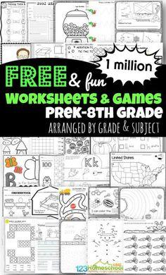 Free Worksheets For Kids, Blends Worksheets, Social Studies Worksheets, Free Homeschool Curriculum, Spelling Worksheets, Printable Preschool Worksheets, Kindergarten Math Worksheets, 1st Grade Worksheets, Science Worksheets