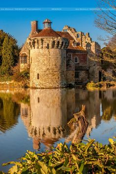 The picturesque Scotney Castle in Kent, England, of Tudor Revival architectural style built in 19th century.