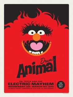 Muppets Electric Mayhem by Michael De Pippo. Love this whole set of posters.