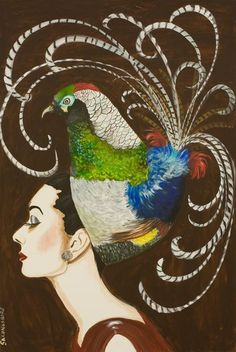 """Lady Amherst Audrey"" 48 x 72"