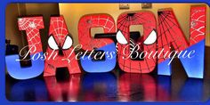 Spiderman Letters Spiderman Birthday Super by PoshLettersBoutique