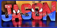 Spiderman Letters Spiderman Birthday Super by PoshLettersBoutique
