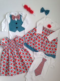 Coordinated Spring Looks for your family! #Easter Outfits, #Spring #matching siblings