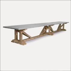Honed Granite Table by Sempre Belgium through Cabana Home Santa Barbara