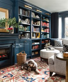 Built-In Bookcases and TV Unit - Living a Real Life Cozy Library, Library Wall, Library Ideas, Library Inspiration, Reading Library, Dream Library, Library In Home, Home Library Design, Design Inspiration