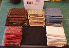 Final fabric selections.  Black is the constant.