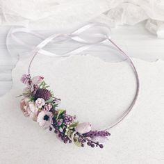 Lavender crown Floral crown Flower crown Bridal Floral