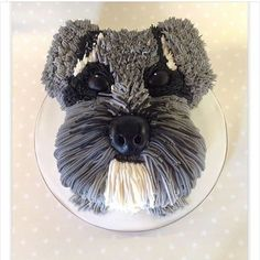 Thanks for sending this photo. Best cake ever. Pretty Cakes, Cute Cakes, Yummy Cakes, Fondant Cakes, Cupcake Cakes, Kid Cakes, Fondant Figures, Puppy Birthday Cakes, Schnauzer Art