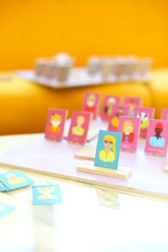 DIY Wes Anderson Guess Who Board Game | lovelyindeed.com