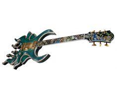 Mark Minarik's Orchid Petal guitar, amazing inlays.