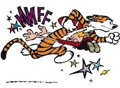 Calvin and Hobbes (DA) - Way to block, Calvin!