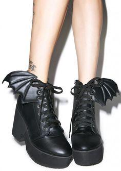 Killstar Coffin Creeper Black Sapatos de Mulher