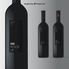 Elégante maquette du vin Vecteur gratuit
