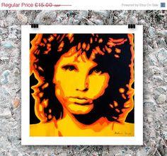 Jim Morrison painting