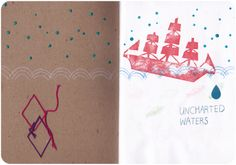 Sketchbook Project by Yuki Nakano: Uncharted Waters Sketchbook Project, Sketchbook Inspiration, Journal Ideas, Illustrations, Projects, Art, Log Projects, Art Background, Blue Prints