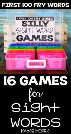 Teach kindergartners Fry sight words with these games and activities! With this resource, you get 16 sight word games. They provide just enough silly to make them engaging and enjoyable but are still rigorous and academic! Just print and practice for fun in your classroom today!