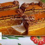 Dobos torta szeletek Tiramisu, Waffles, Breakfast, Ethnic Recipes, Food, Morning Coffee, Essen, Waffle, Meals