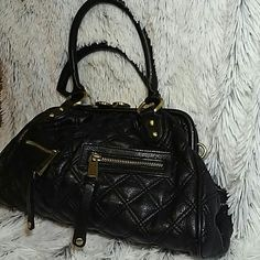 """Marc Jacobs satchel Marc Jacobs satchel. 13"""" x 8"""" h.  In used condition.  Has one broken hinge which is not noticeable, has multiple areas on top where color is peeling off especially under the latch, see pics,  and some spots on handles. Otherwise good condition.  Feel free to ask any questions. Marc Jacobs Bags Satchels"""
