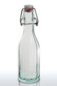 250ml clear swing top bottle