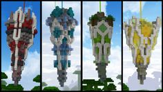Four Obelisks People love Minecraft because of several straightforward items, usage, replayability along with simplicity Minecraft Banner Designs, Minecraft Banners, Minecraft Castle, Minecraft Medieval, Minecraft Plans, Minecraft Tutorial, Minecraft Blueprints, Minecraft Creations, Minecraft Crafts