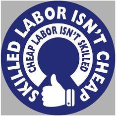 Skilled Labor Isn't Cheap Hard Hat Sticker / Funny Helmet Decal Label Toolbox #VinylSticker
