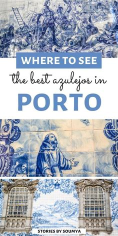 Lendário Where to see the Best Azulejos in Porto Portugal The best places to see azulejos in Porto. Road Trip Portugal, Best Places In Portugal, Portugal Travel Guide, Europe Travel Guide, Travel Destinations, Sintra Portugal, Visit Portugal, Spain And Portugal, Algarve