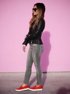 Marianna Hewitt Blog / Pink Wall and Background / OOTD / Kenneth Cole All Saints Proenza Schouler Genetic Denim