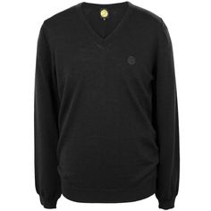 Black Hanover Merino Wool Sweater | Pretty Green | Designer fashion from Liam Gallagher