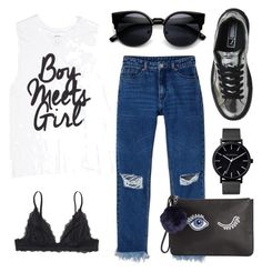 """""""oh boy!"""" by blackxallxover ❤ liked on Polyvore featuring Monki, Miss Selfridge and The Horse"""
