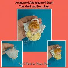 Kostenlose Amigurumi Häkelanleitung - Moosgummi Engel - Glücksbringer