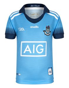 Kids Dublin Home Kit 2019 Up the Dubs! Dublin GAA fans will love the new 2019 Home Kit. This set is complete with the jersey, shorts and matching socks. Made from lightweight, breathable fabric and featuring all the team details youd expect. Finished with the Dublin GAA crest on the left chest and right leg to show your team pride. Product Features Set includes home jersey, shorts and socks Embroidered crest on the left chest and right leg GAA, ONeills and sponsor logos throughout, size 5-6Y Matching Socks, Football Kits, Kits For Kids, Jersey Shorts, Dublin, Pride, Fans, Logos, Fabric