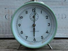 blue vintage alarm clock duck egg blue vintage by LaBonneVie72