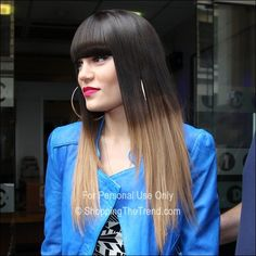 Jessie J dip dyed ombre hair outside BBC Studios on May 31st