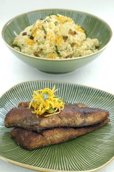 Spiced Fish on Citrus and Mint Cous Cous- By Chef Paul Hegeman