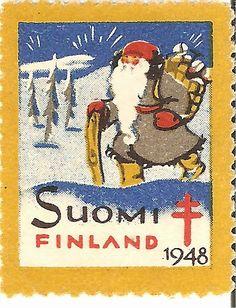 Kirjeitä myllyltäni: Joulumerkkejä ja vähän muitakin Christmas Images, Christmas And New Year, Vintage Christmas, Christmas Time, Finland Trip, Postage Stamp Art, Going Postal, Pretty Cards, Stamp Collecting