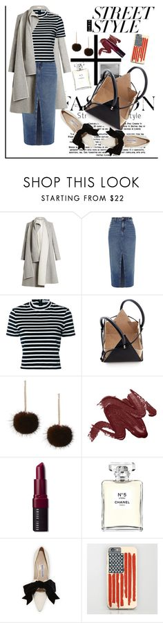 """streetstyle"" by rindularas on Polyvore featuring Carl Kapp, River Island, Meggie, T By Alexander Wang, Adriana Orsini, Bobbi Brown Cosmetics, Chanel, Manolo Blahnik, contestentry and nyfwstreetstyle"
