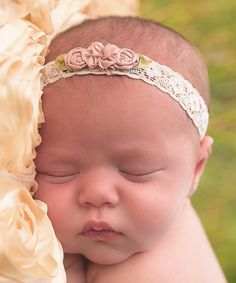 Look at this Lil Miss Sweet Pea Rose & Beige Vintage Rose Headband on #zulily today!
