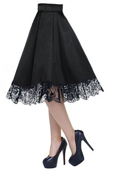 Skirt with Scalloped Lace Hem by Amber Middaugh