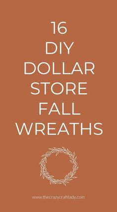 These fall wreaths look so high end, you won't believe they were made with dollar store supplies. Fall Projects, Diy Craft Projects, Diy Crafts, Pumpkin Crafts, Fall Crafts, Fall Home Decor, Autumn Home, Dollar Store Crafts, Dollar Stores