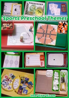Take a look at fun and sporty learning ideas - baseball, hockey, tennis, basketball, and football! Educational Activities For Kids, Preschool Themes, Tot Trays, Rules For Kids, Hands On Learning, Basketball, Hockey, Teaching Resources, Sports