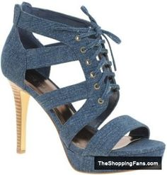 another denim heels  The Shopping Fans