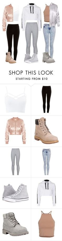 """3 ""baddie"" outfits"" by lily-rose-marie-alexandrr on Polyvore featuring Charlotte Russe, River Island, Timberland, NIKE, Topshop, Converse, NLY Trend and plus size clothing"