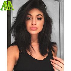 Pin by madison mcbride on new hair in 2019 siyah saç modelle Kylie Jenner Look Alike, Kylie Jenner Short Hair, Kylie Jenner Haircut, Gina Lorena, Medium Hair Styles, Short Hair Styles, Human Hair Wigs, Hair Looks, Wig Hairstyles