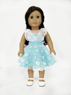 "This listing is for a cotton print outfit, blouse and skirt, with velcro closure in the back, fits 18"" Dolls like American Girl, Madame Alexander, Gotz Little Sister, Alexander Girlz, Our Generation a"