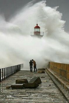Lighthouse..The strength of the sea catches completely your attention, fascinated enchanted? Waves breaking on the rocks remind you of the strength of nature