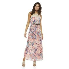 bec930028ac Lily Rose Crochet Bodice Lined Maxi Dress